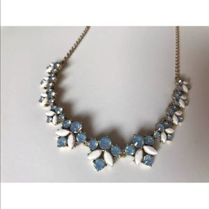 J Crew Necklace Crystal Bee Blue White